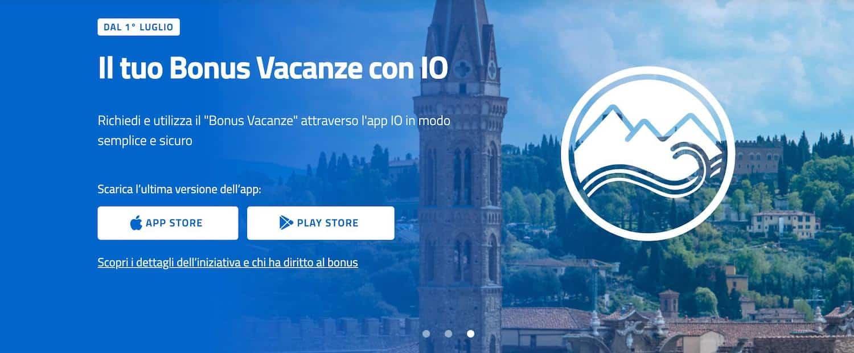 bonus vacanze app io