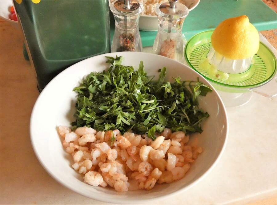 riso freddo con gamberi ingredienti-