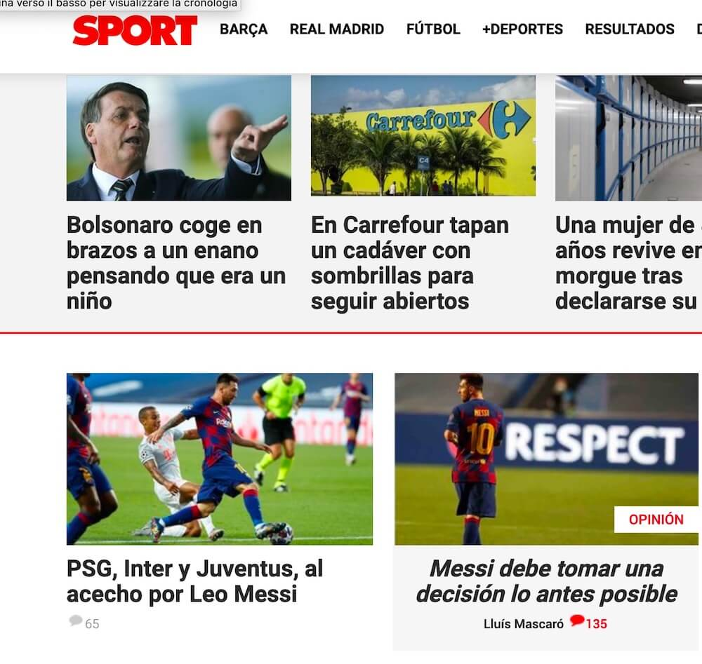 sports testata spagnola
