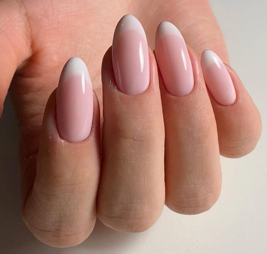unghie gel neutre french manicure