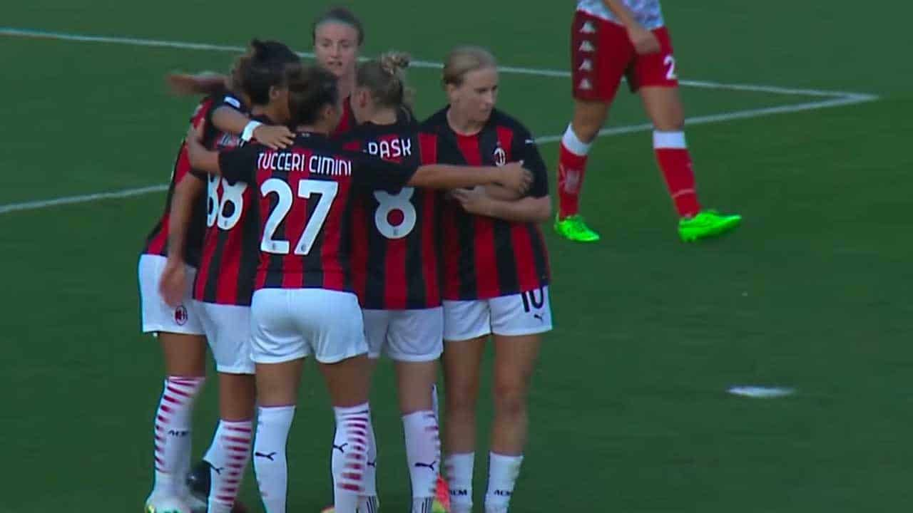 Calcio Femminile Risultati Terza Giornata Il Milan In Fuga Con Juve E Viola Donne Sul Web