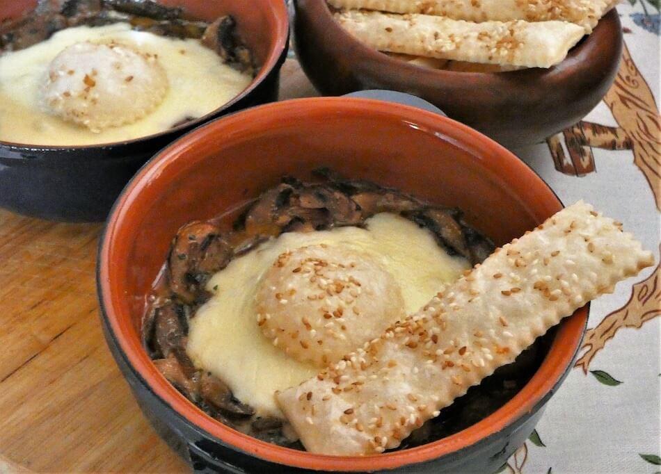 champignon al forno con mozzarella