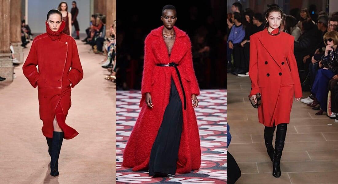 colori moda inverno 2020 2021 cappotti rossi