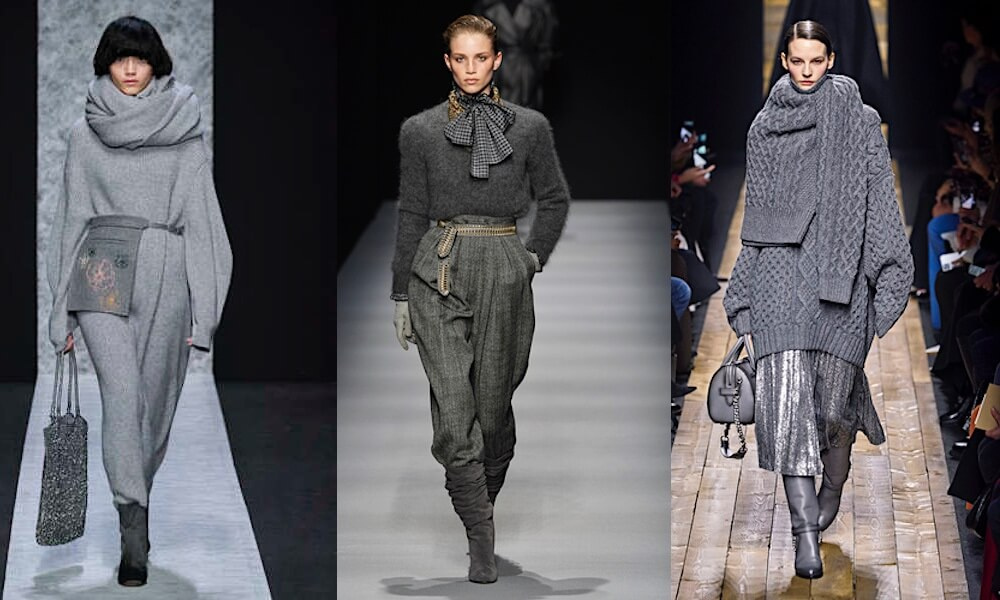 colori moda inverno 2020 2021 vestiti grigi