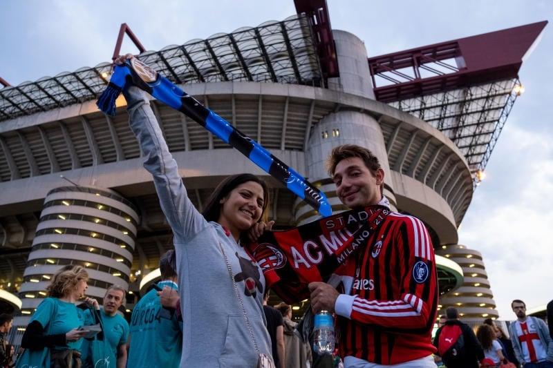 Stadio di San Siro, derby Milan Inter tifosi in arrivo