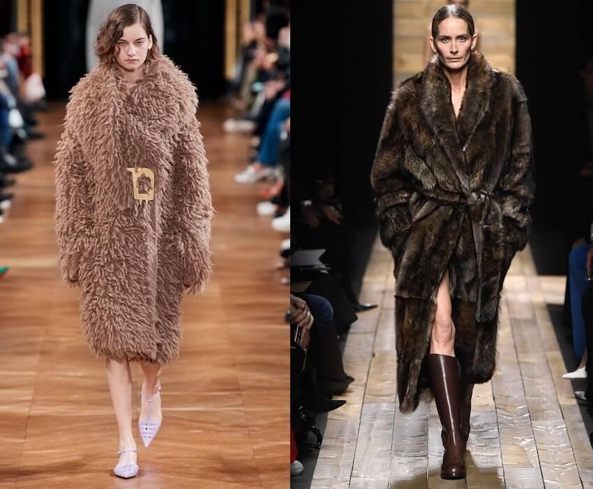 pellicce ecologiche marroni inverno 2020-2021
