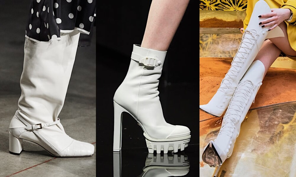stivali bianchi inverno 2021