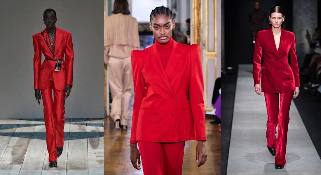 tailleur pantaloni inverno 2020 2021-rossi
