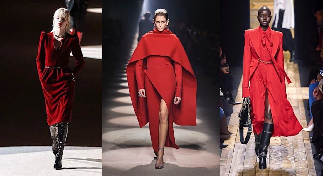 vestiti rossi inverno 2020 2021