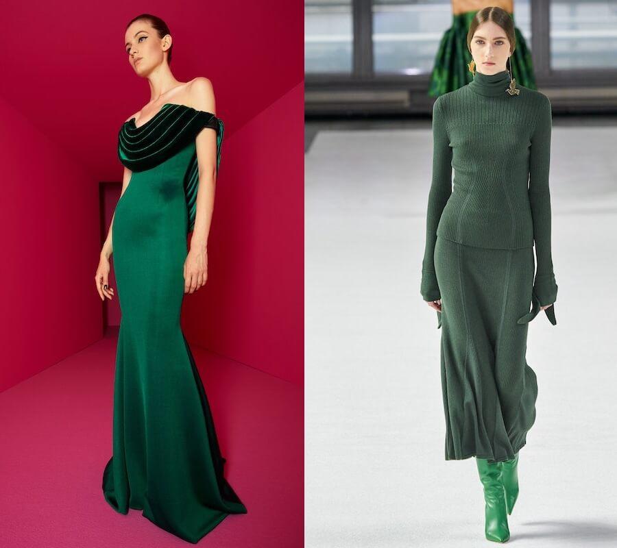 vestiti verdi inverno 2020 2021