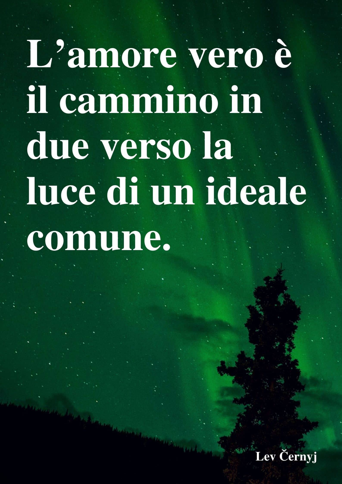 L'amore vero è il cammino in due verso la luce di un ideale comune.