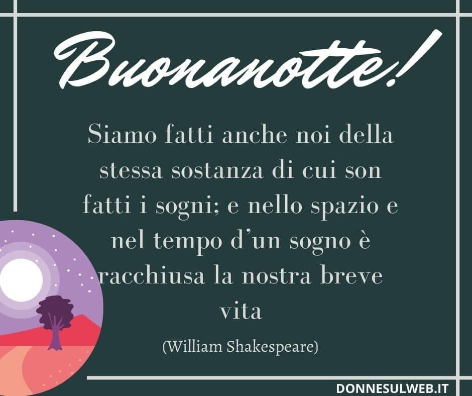 frase buona notte shakespeare