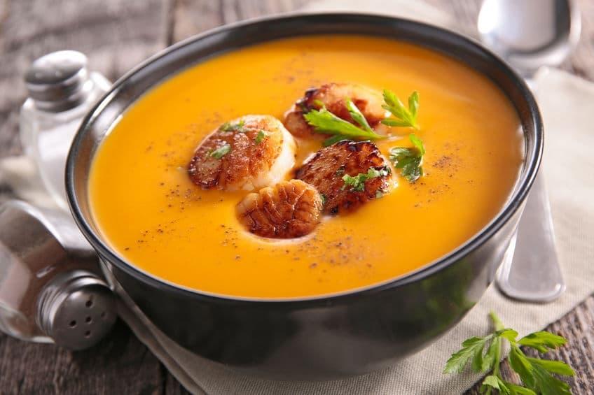 zuppa natalizia zucca capesante