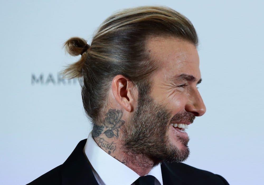 David Beckham capelli legati uomo 2021