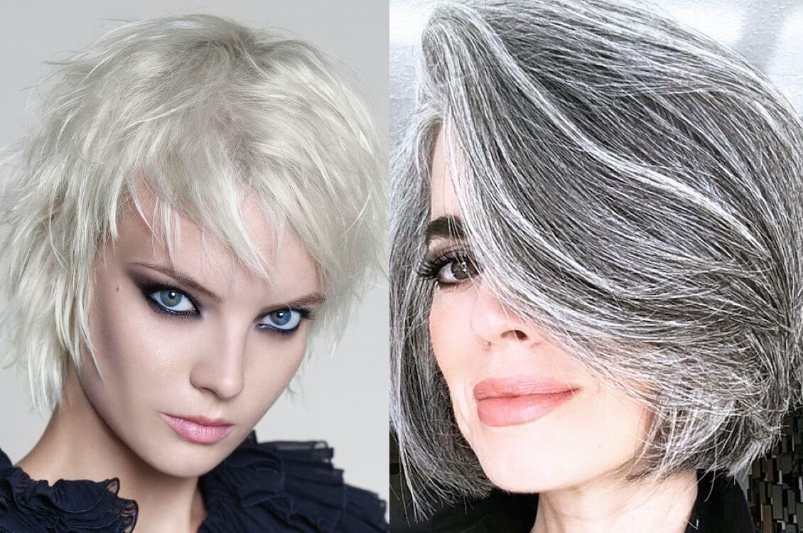 cortes de cabelo grisalhos 2021