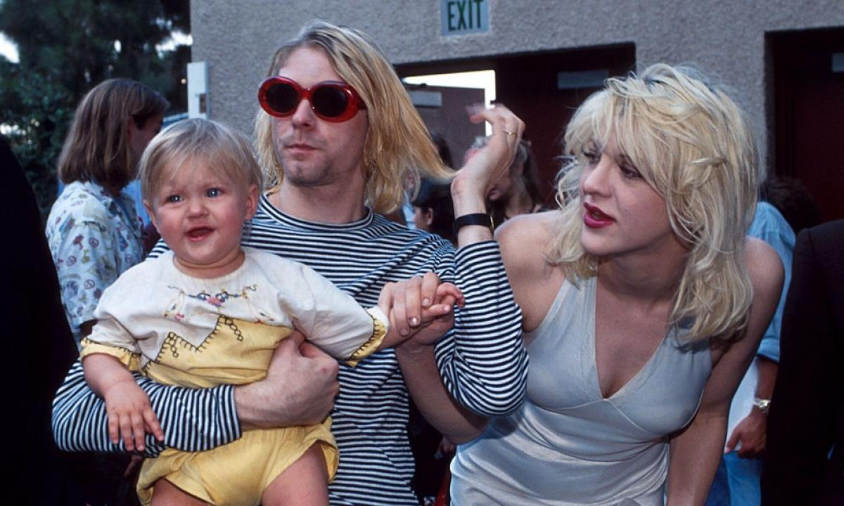 kurt cobain con figlia e courtney love
