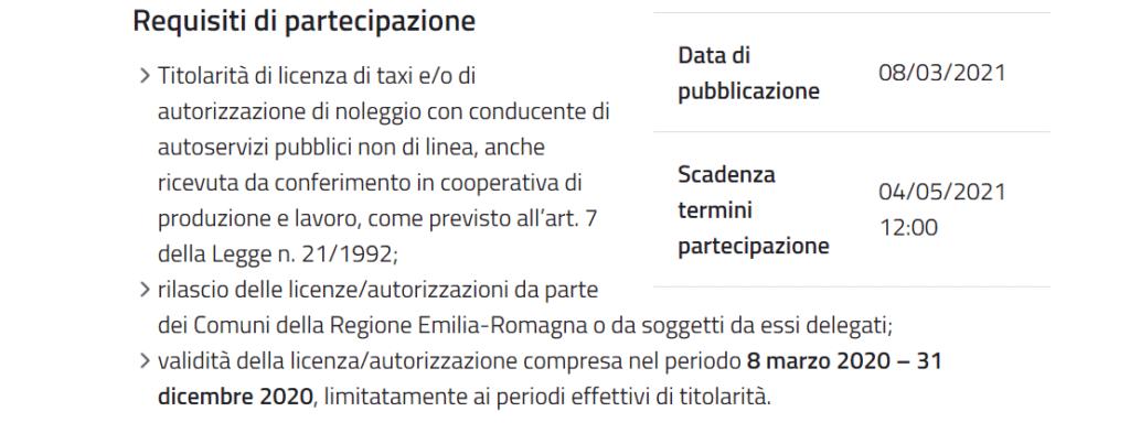 Beneficiari contributi attività regione Emilia Romagna