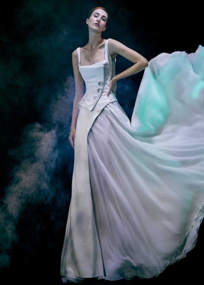 Abito da sposa alta moda inverno 2022 Julien Fournie