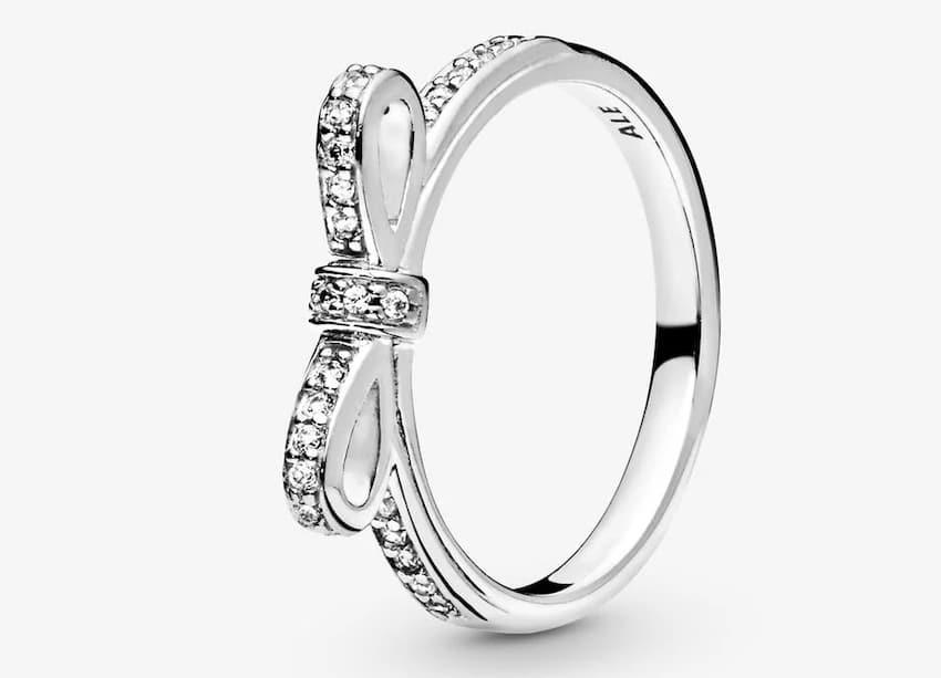 pandora con fiocco anello