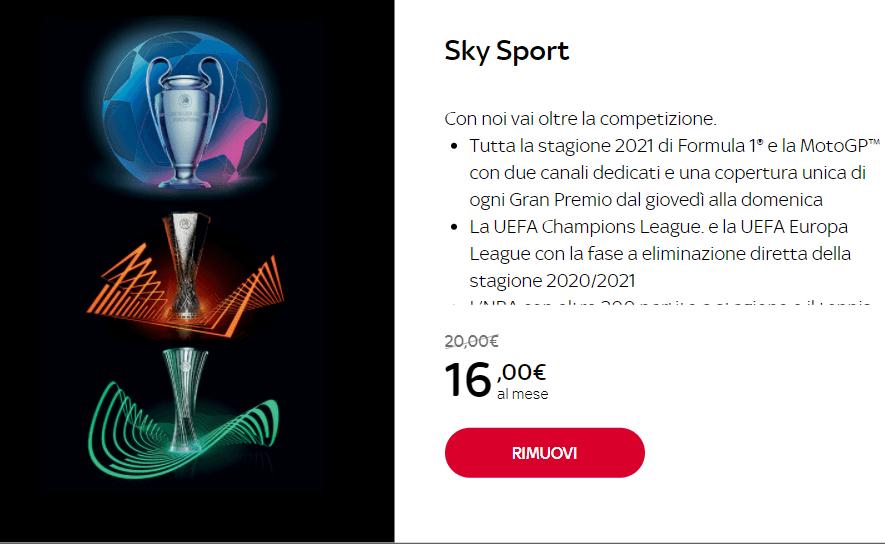 prezzo sky sport