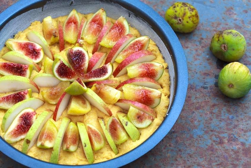 torta polenta fichi pere