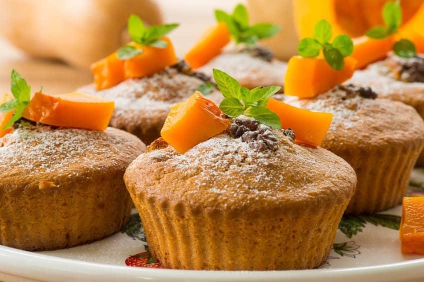 Muffin alla zucca e noci